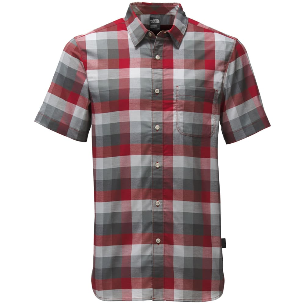 THE NORTH FACE Men's Short-Sleeve Road Trip Shirt - MUZ-CARDINAL RED PLA