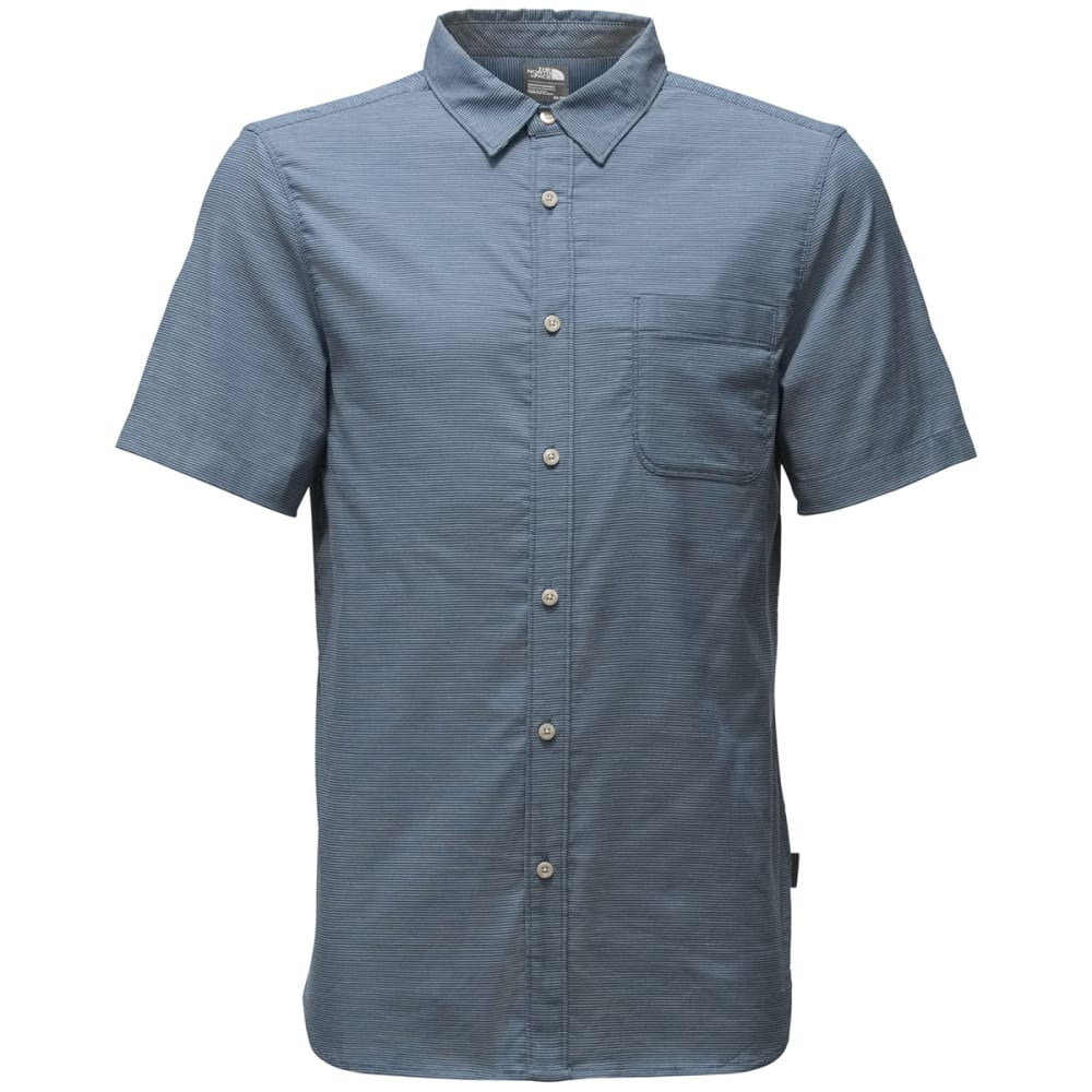 THE NORTH FACE Men's Short Sleeve On Sight Shirt - LNP-SHADY BLUE STRIP