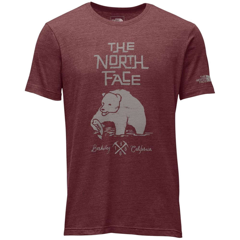 THE NORTH FACE Men's Short Sleeve Grizzly Tri-Blend Tee - HJK-CARDINAL RED HTH