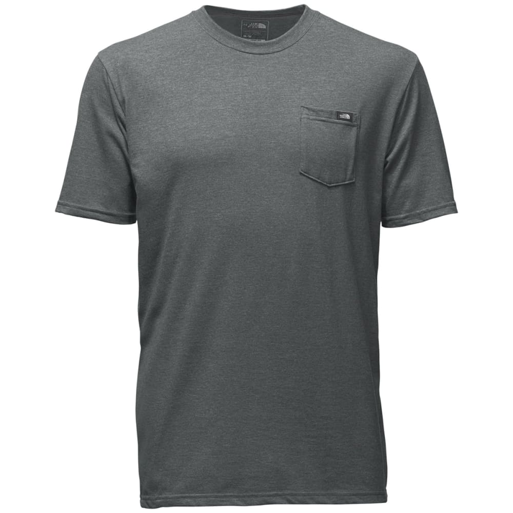 THE NORTH FACE Men's Short Sleeve Classic Pocket Tee - DYY-MED GRY HTHR