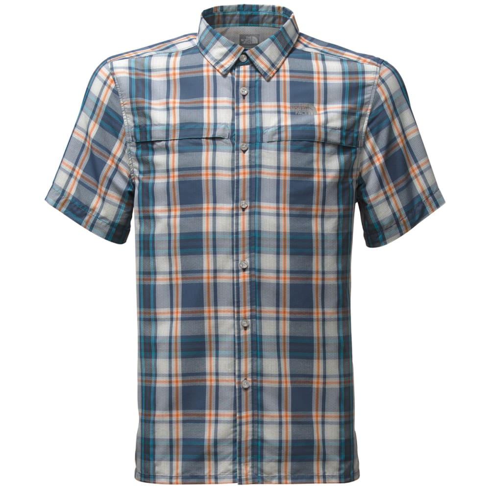 THE NORTH FACE Men's Short Sleeve Vent Me Shirt - SAH-SHADY BLUE PLAID