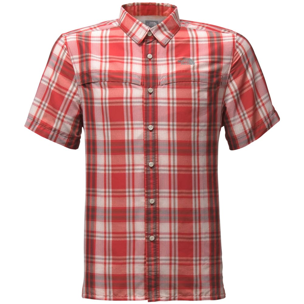 THE NORTH FACE Men's Short Sleeve Vent Me Shirt - MUZ-CARDINAL RED PLA