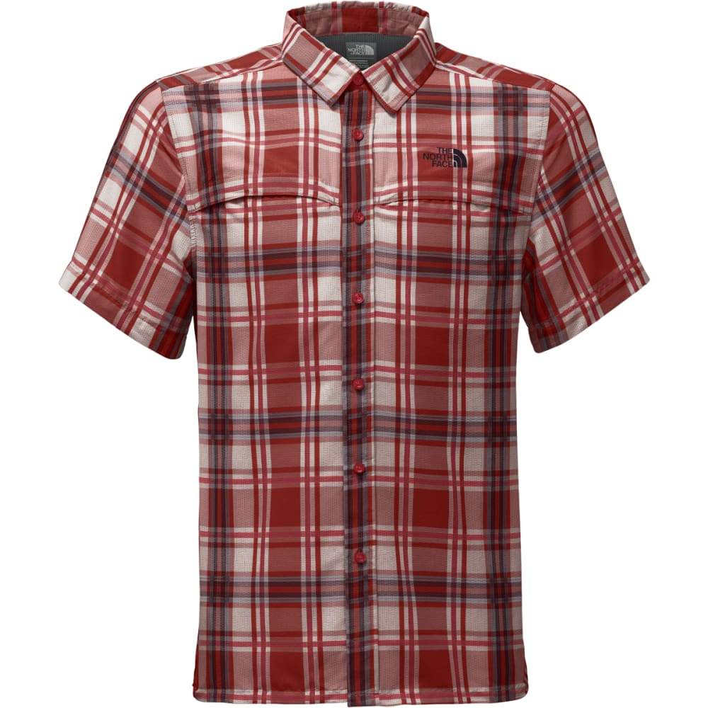 THE NORTH FACE Men's Short Sleeve Vent Me Shirt - QV8-RAGE RED PLAID