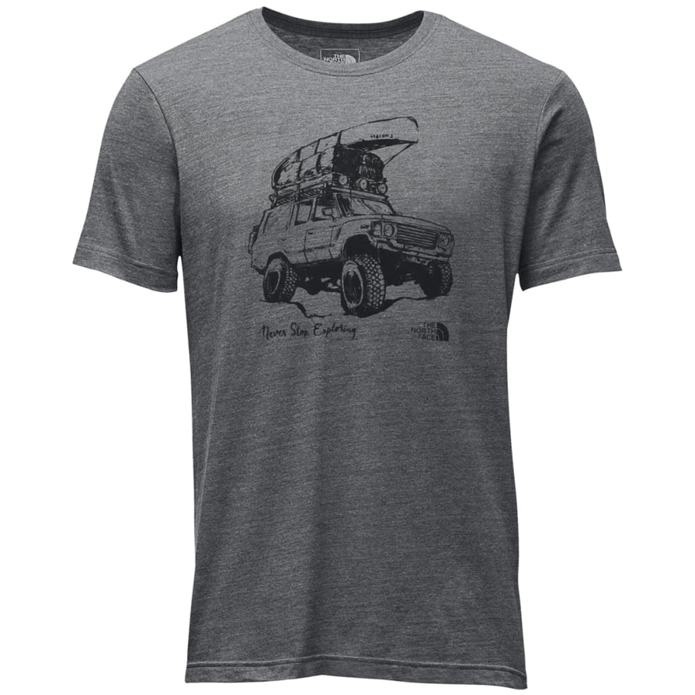 THE NORTH FACE Men's Short Sleeve Off Road Tri-Blend Tee - DYY-TNF MED GRY HTHR