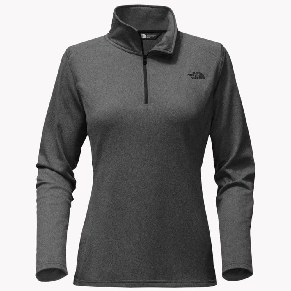 THE NORTH FACE Women's Tech Glacier 1/4 Zip Pullover - FLC-TNF DARK GREY HT
