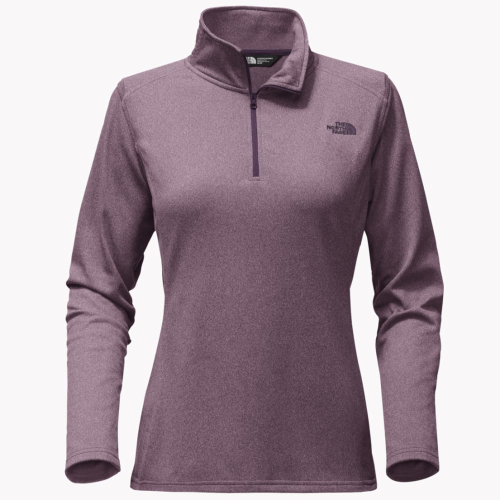 THE NORTH FACE Women's Tech Glacier 1/4 Zip Pullover - VBW-BLK PLUM HTR