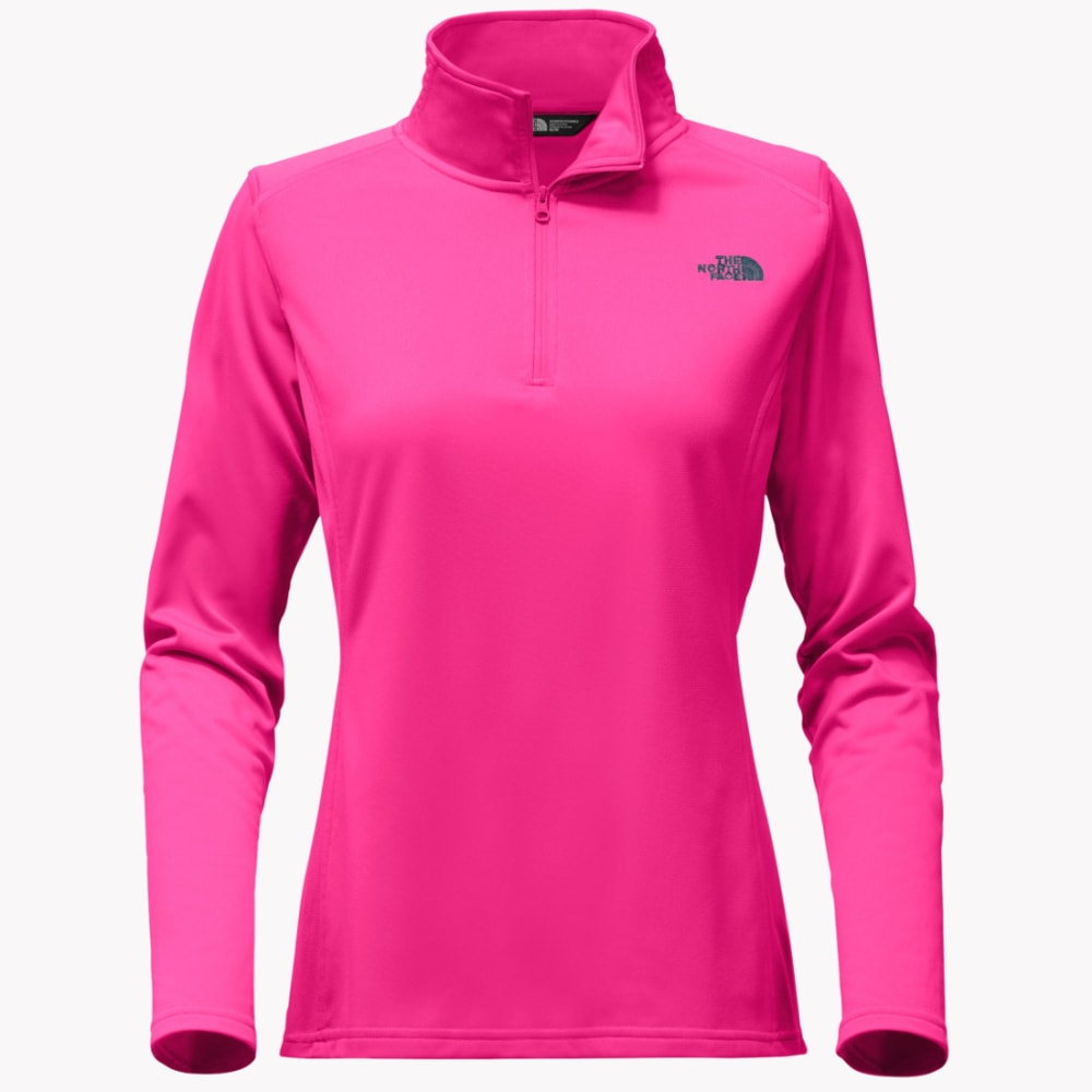 THE NORTH FACE Women's Tech Glacier 1/4 Zip Pullover - 79M-PETTICOAT PINK
