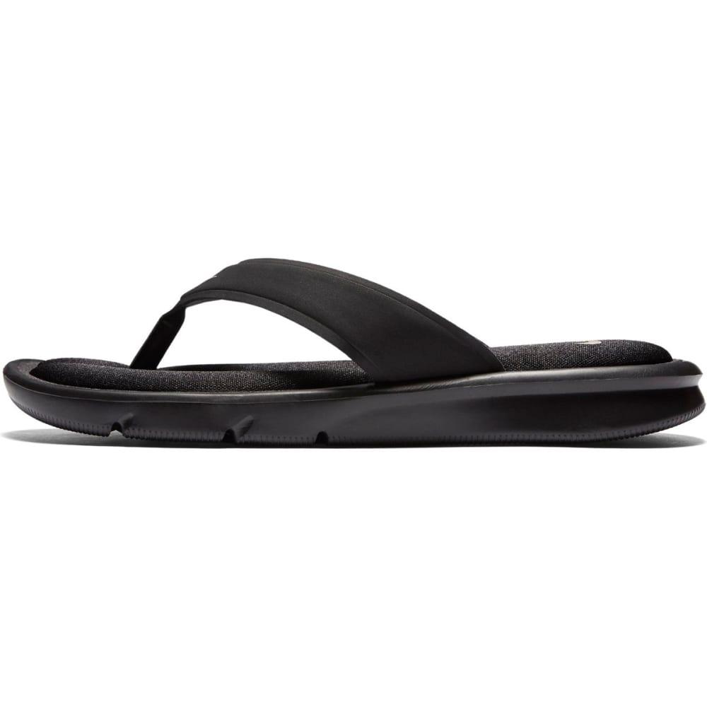 NIKE Women's Ultra Comfort Flip Flops - BLACK/WHITE