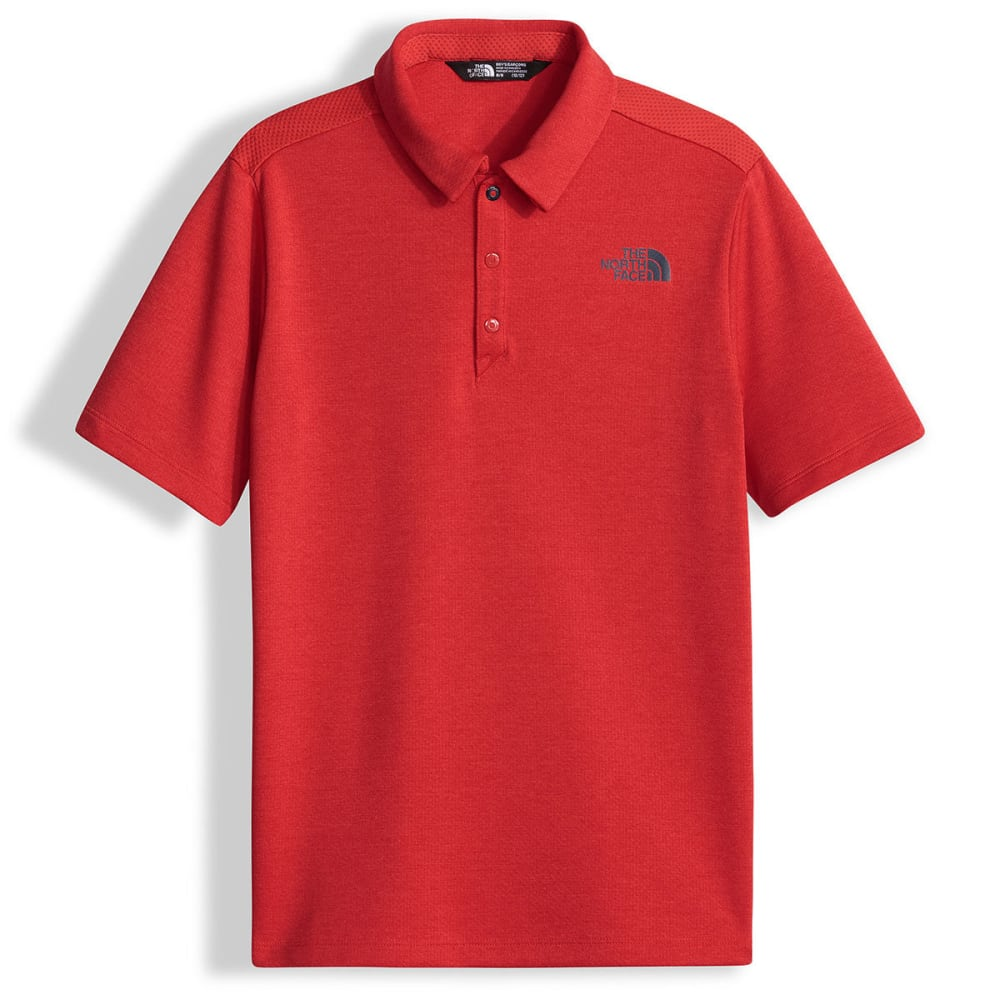 THE NORTH FACE Boys' Polo Shirt - HCL-HIGH RISK RED