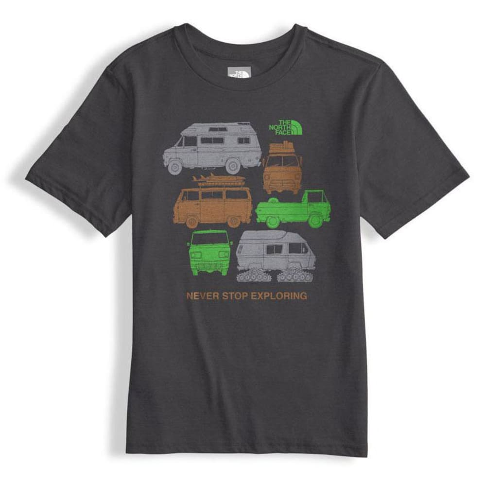 THE NORTH FACE Boys' Short-Sleeve Graphic Tee - 3TJ-GRAPHITE GRY/GRB