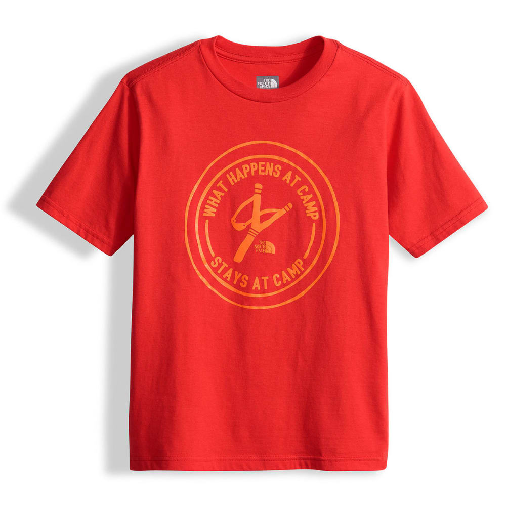 THE NORTH FACE Boys' Short-Sleeve Graphic Tee - HCL-HIGH RISK RED