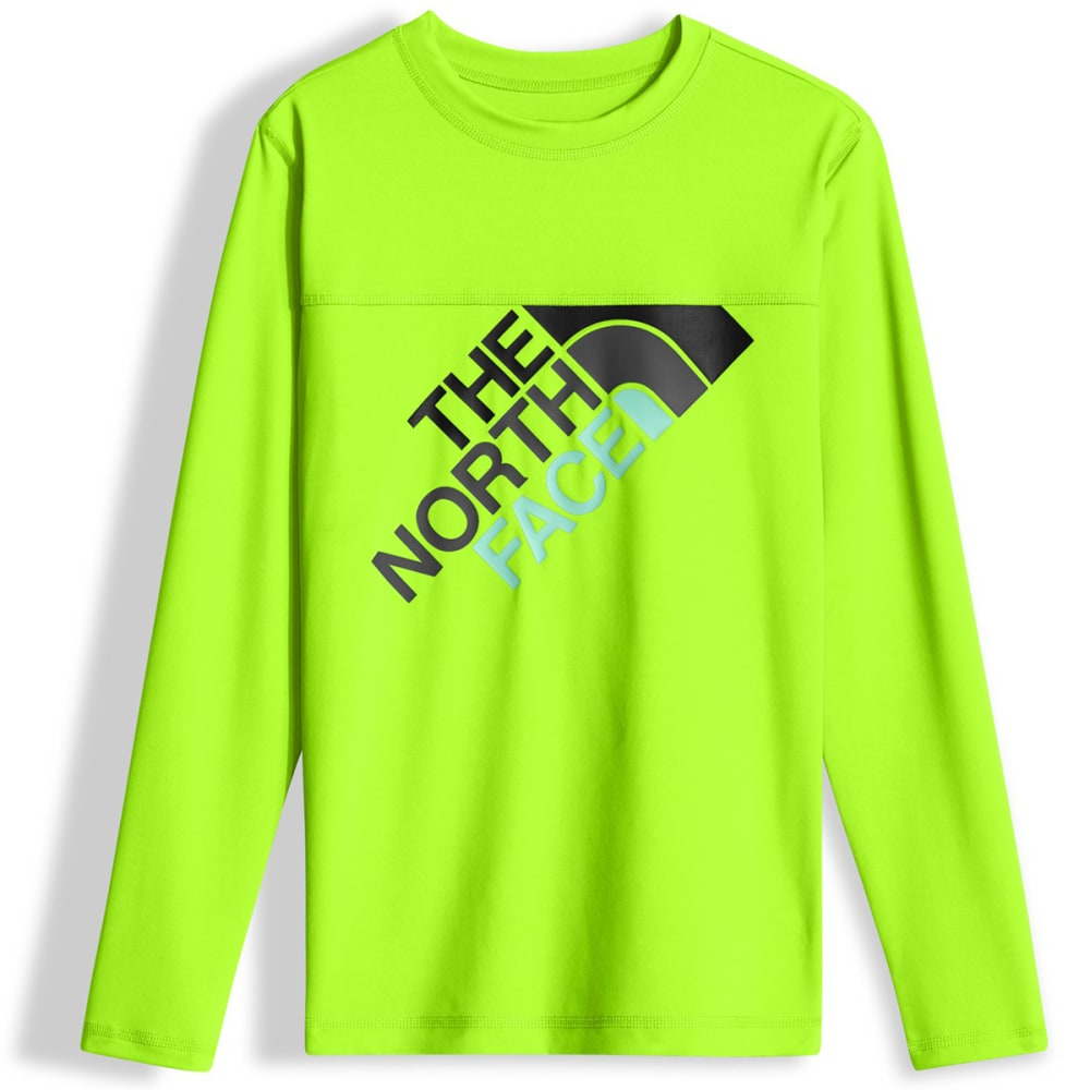 THE NORTH FACE Boys' Long-Sleeve Hike/Water Tee - H6F-POWER GREEN