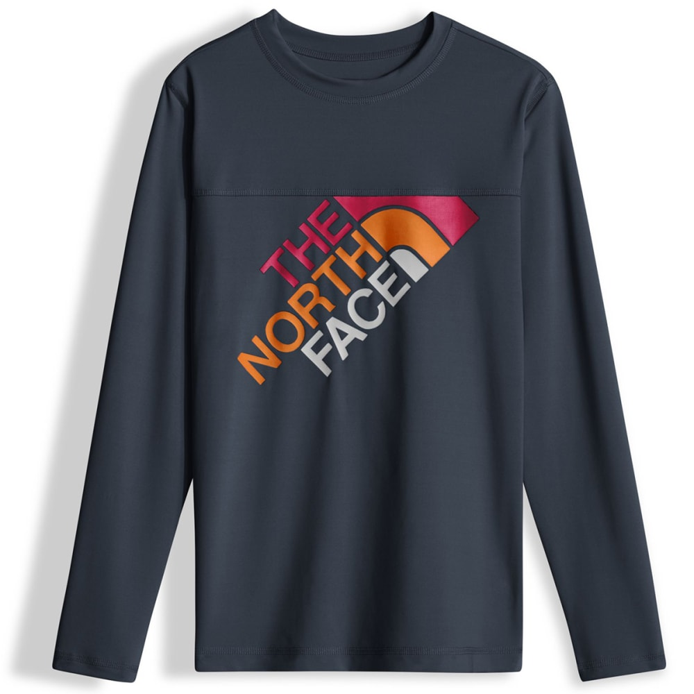 THE NORTH FACE Boys' Long-Sleeve Hike/Water Tee - A7L-COSMIC BLUE