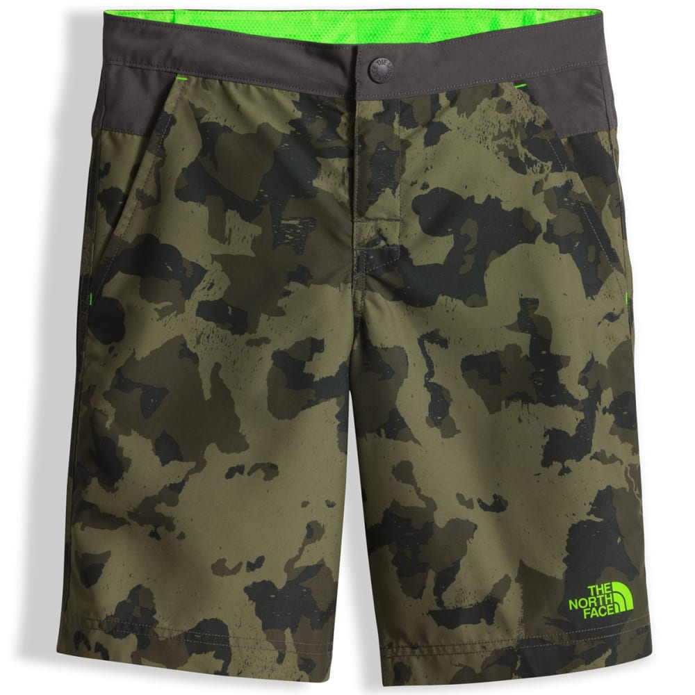 THE NORTH FACE Boys' Hike/Water Shorts - QWS-BURNT OLIVE CAMO