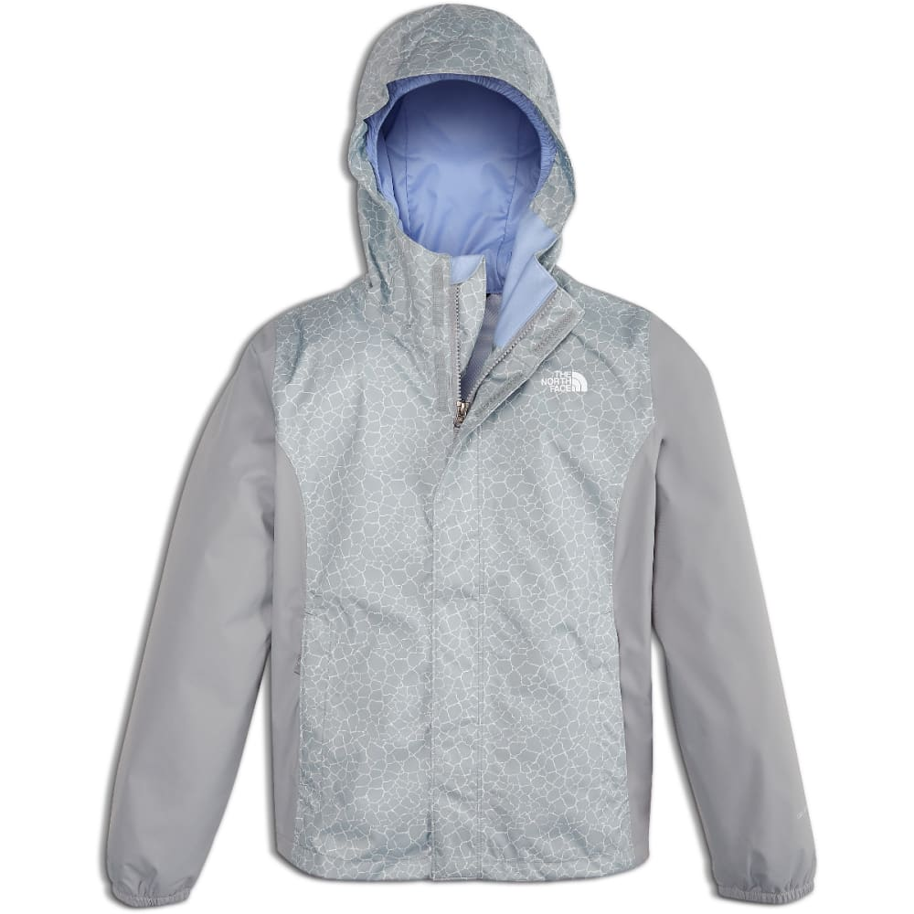 THE NORTH FACE Girls' Resolve Reflective Jacket - 1PD-MID GRY PRINT