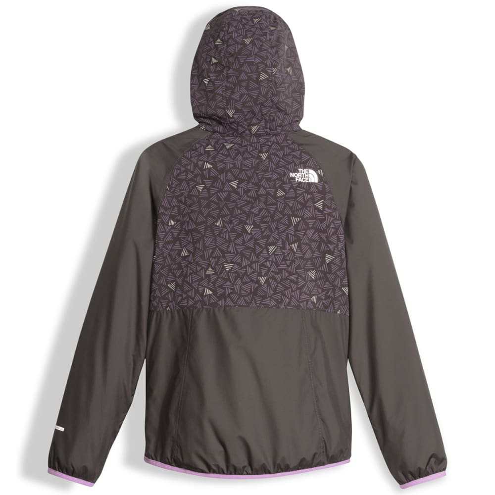 THE NORTH FACE Girls' Reversible Breezeway Wind Jacket - QUY-GRAPHITE GREY