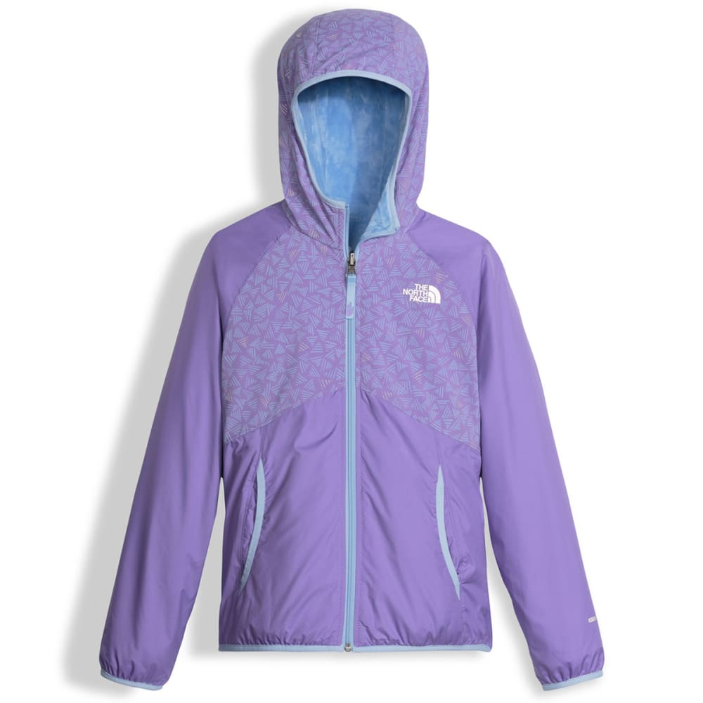 THE NORTH FACE Girls' Reversible Breezeway Wind Jacket - QUZ-PAISLEY PURPLE