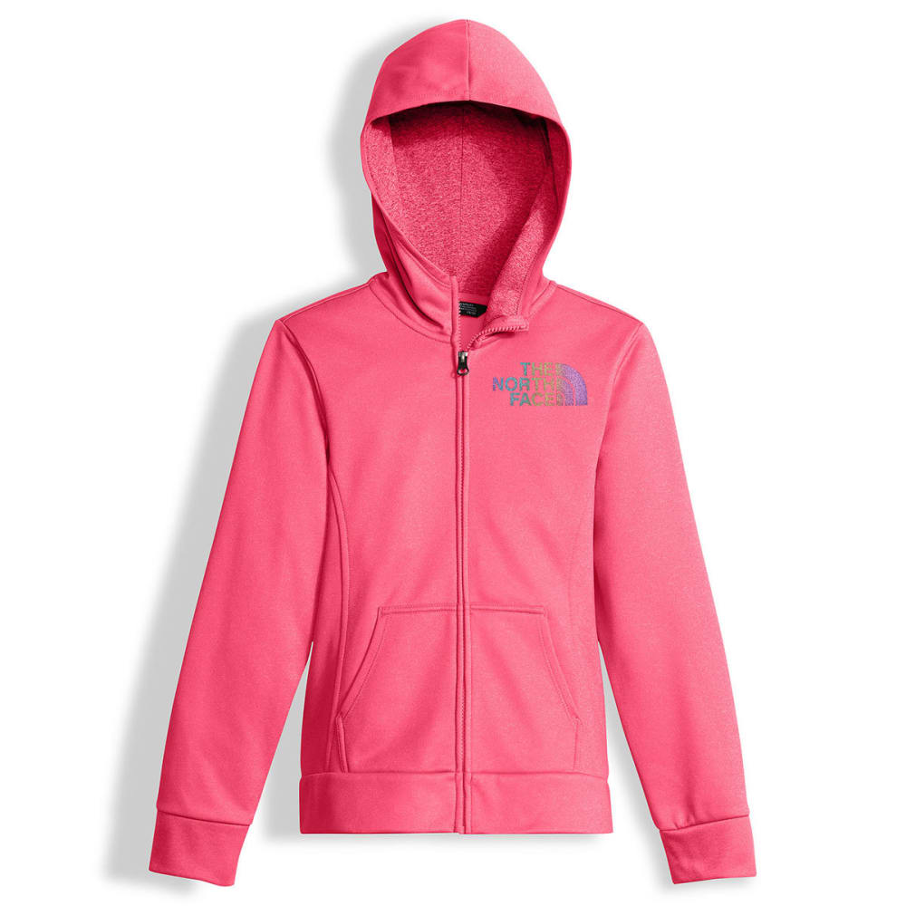 THE NORTH FACE Girls' Surgent Full-Zip Hoodie - QAK-HONEYSUCKLE PINK