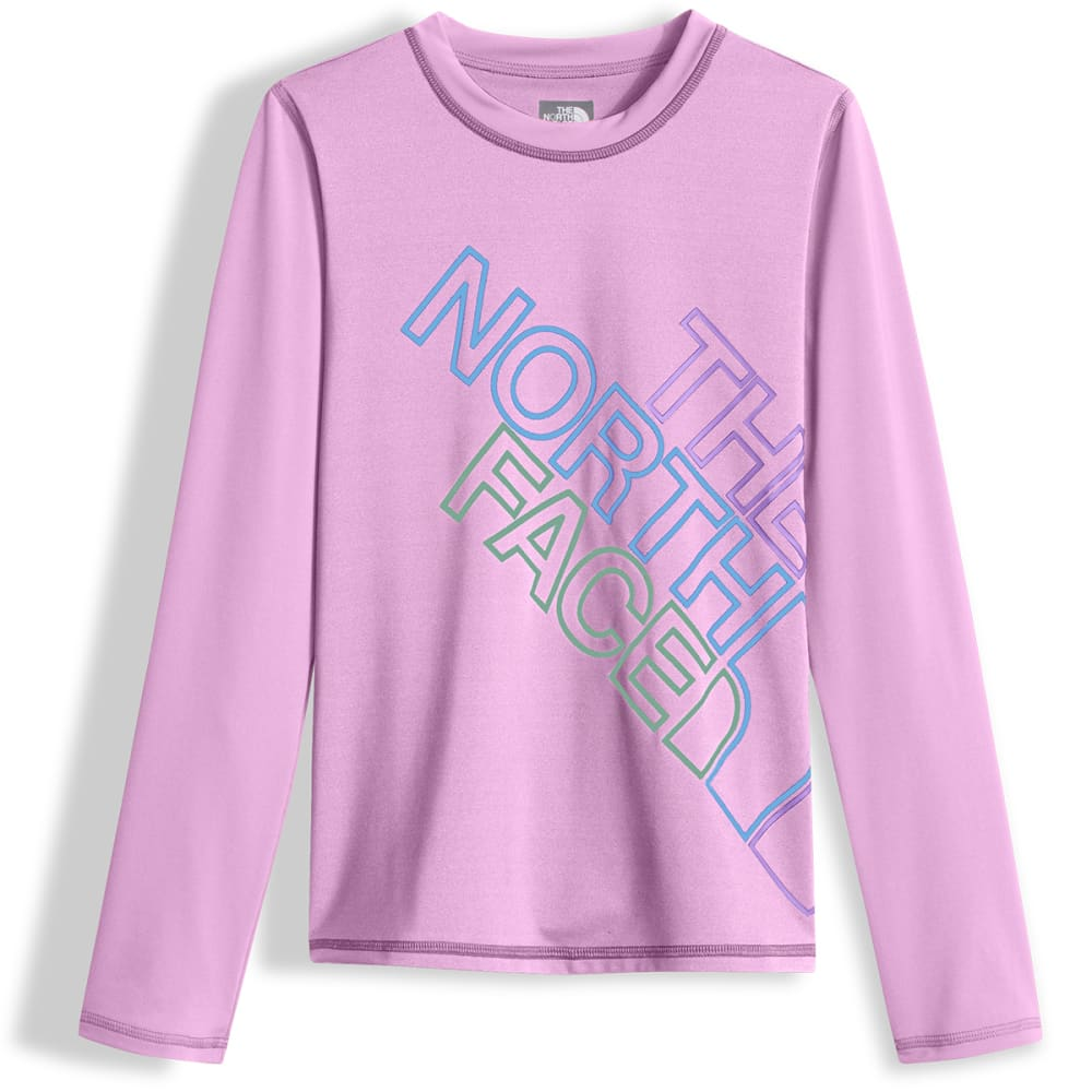 THE NORTH FACE Girls' Long Sleeve Hike and Water Tee - NYE-VIOLET TULLE