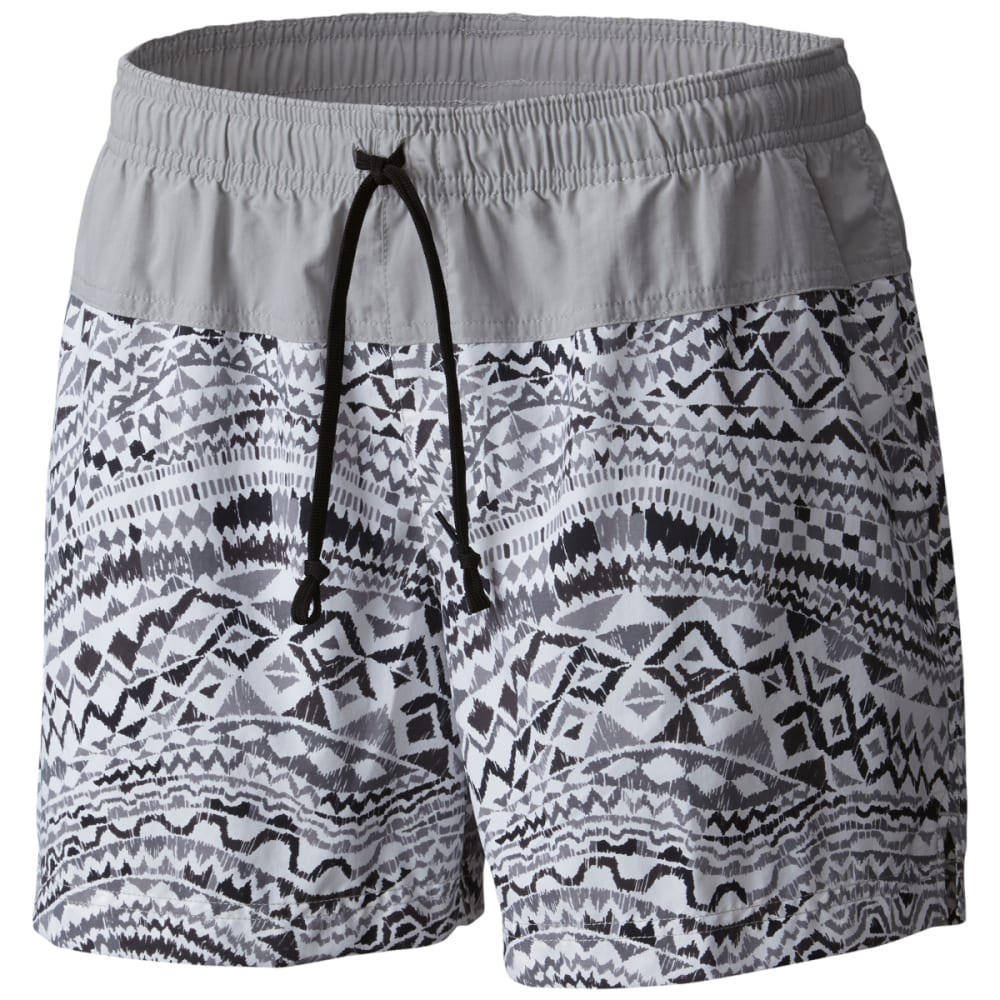 COLUMBIA Women's Sandy River Printed Shorts - 010-BLK GLOBAL WAVE