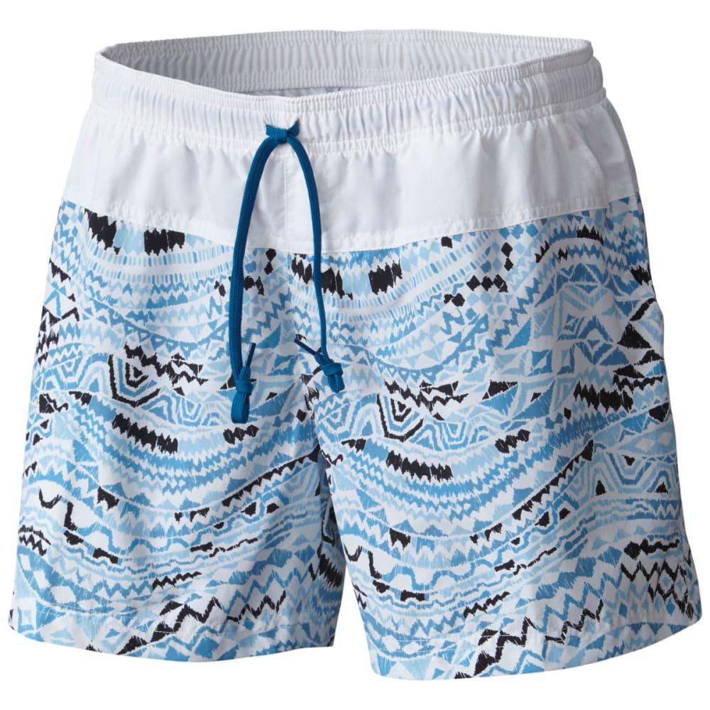 COLUMBIA Women's Sandy River Printed Shorts - 498-JEWEL GLOBAL WAV