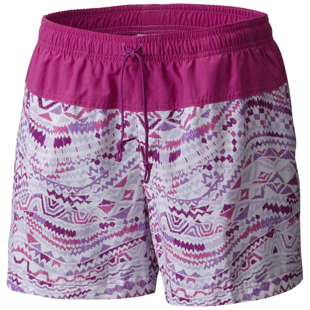 COLUMBIA Women's Sandy River Printed Shorts - 519-VIOLET GLOBAL WA