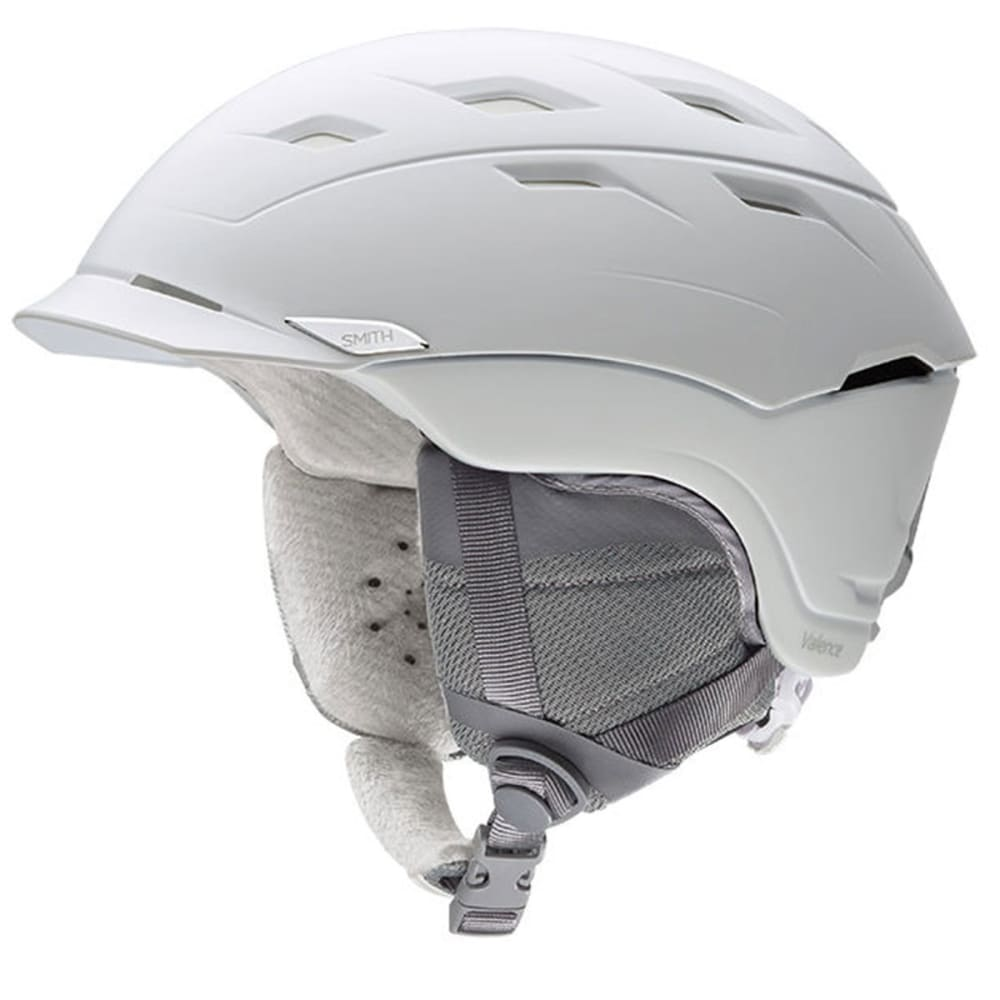 SMITH Women's Valence Snow Helmet, White - SATIN