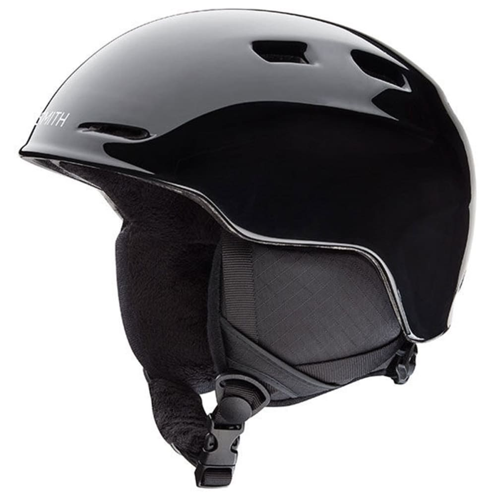 SMITH Boys' Zoom Snow Helmet, Black - BLACK