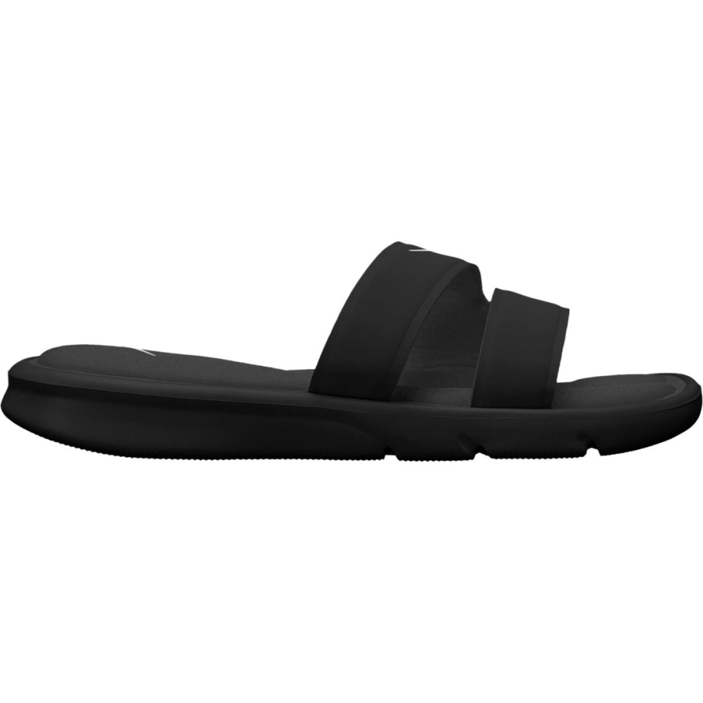NIKE Women's Ultra Comfort Slide Sandals - BLACK/WHITE