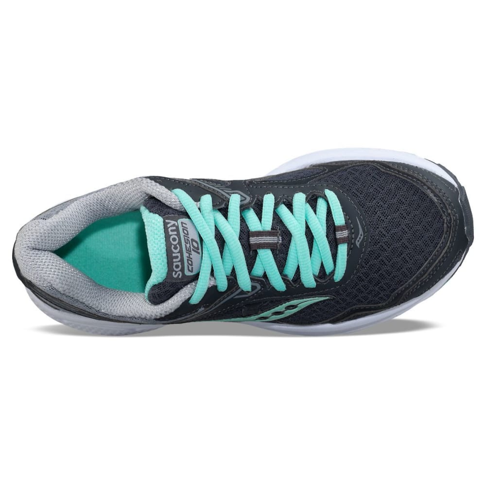 SAUCONY Women's Cohesion 10 Running Shoes, Wide - GREY/GREY/MINT