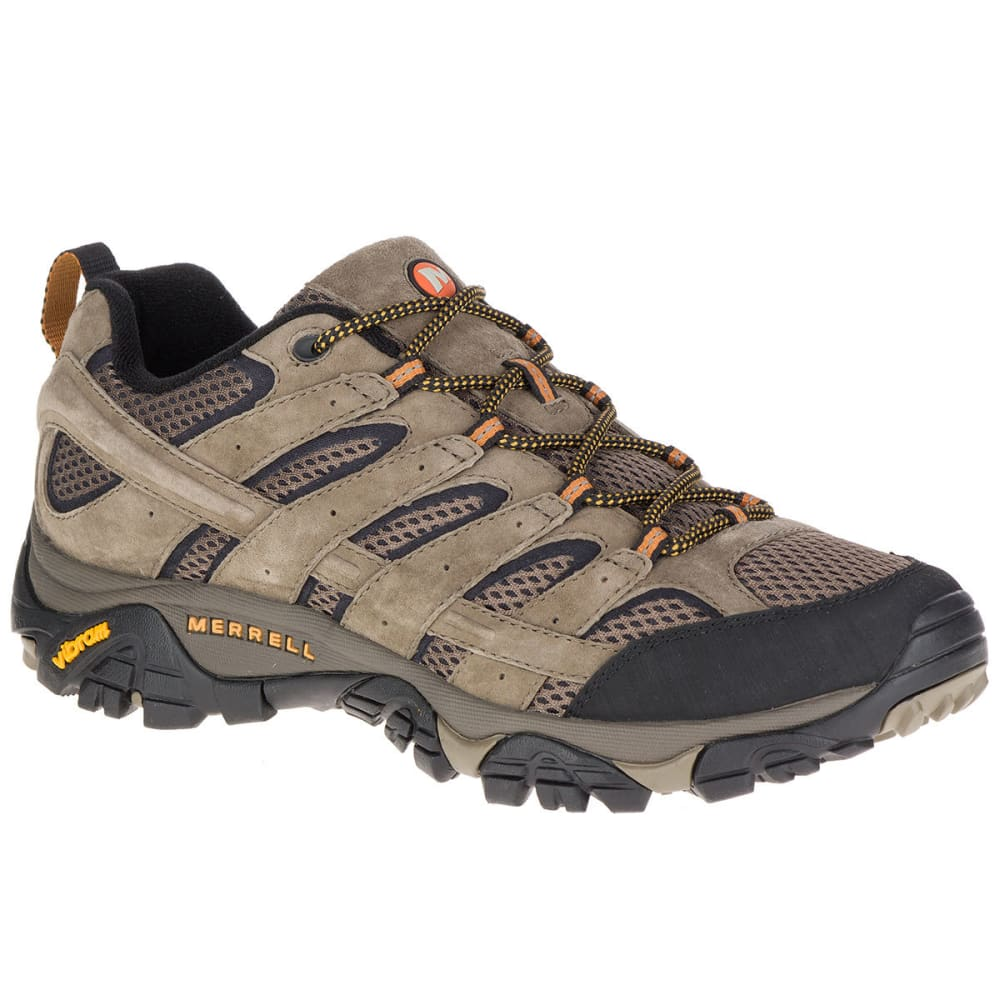 MERRELL Men's Moab 2 Ventilator Low Hiking Shoes, Walnut, Wide - WALNUT