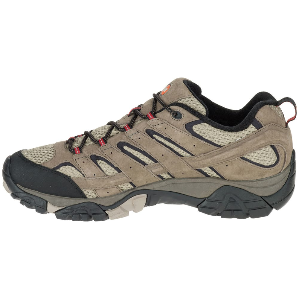 MERRELL Men's Moab 2 Waterproof Low Hiking Shoes, Bark Brown - BARK BROWN