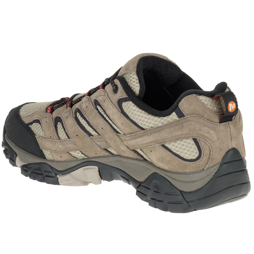 MERRELL Men's Moab 2 Waterproof Low Hiking Boots, Bark Brown - BARK BROWN