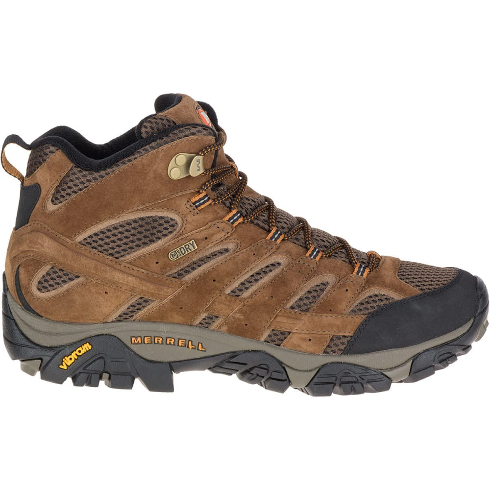 8a498c3f42c MERRELL Men's Moab 2 Mid Waterproof Hiking Boots, Earth, Wide