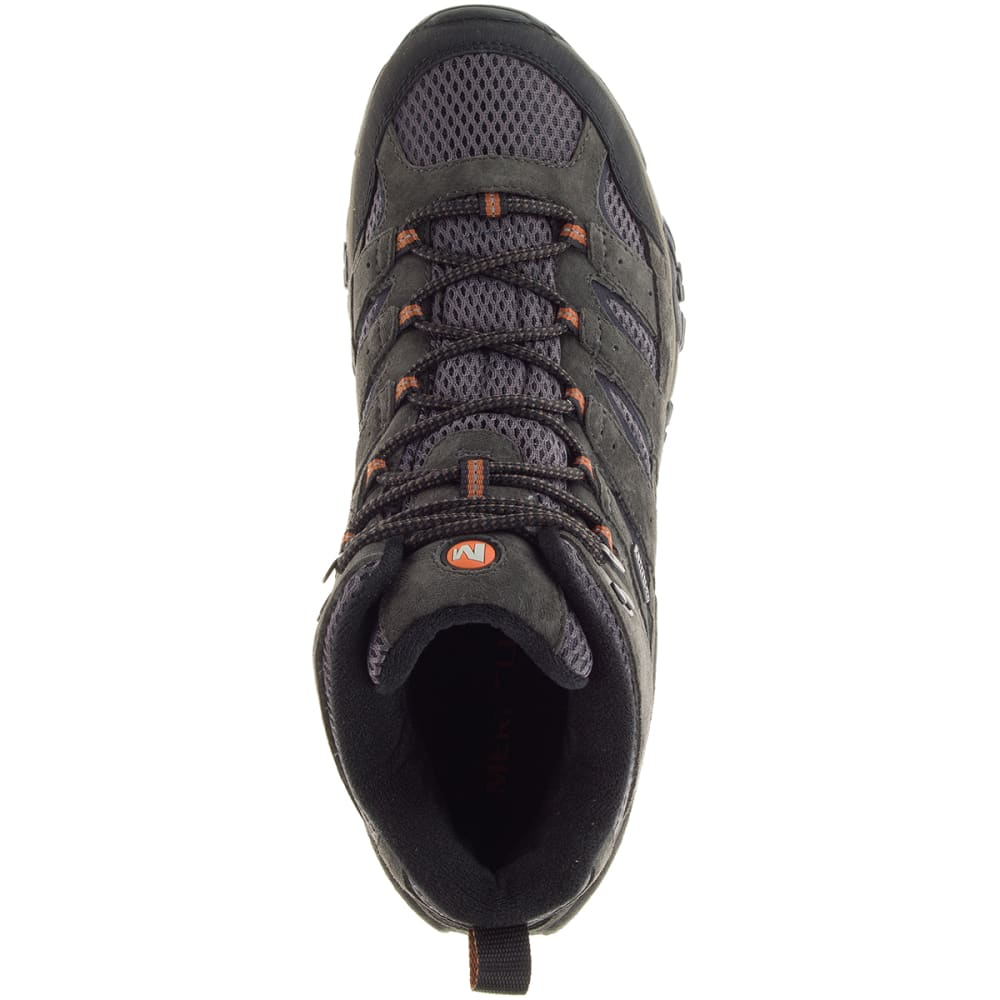 MERRELL Men's Moab 2 Mid Waterproof Hiking Boots, Beluga - BELUGA