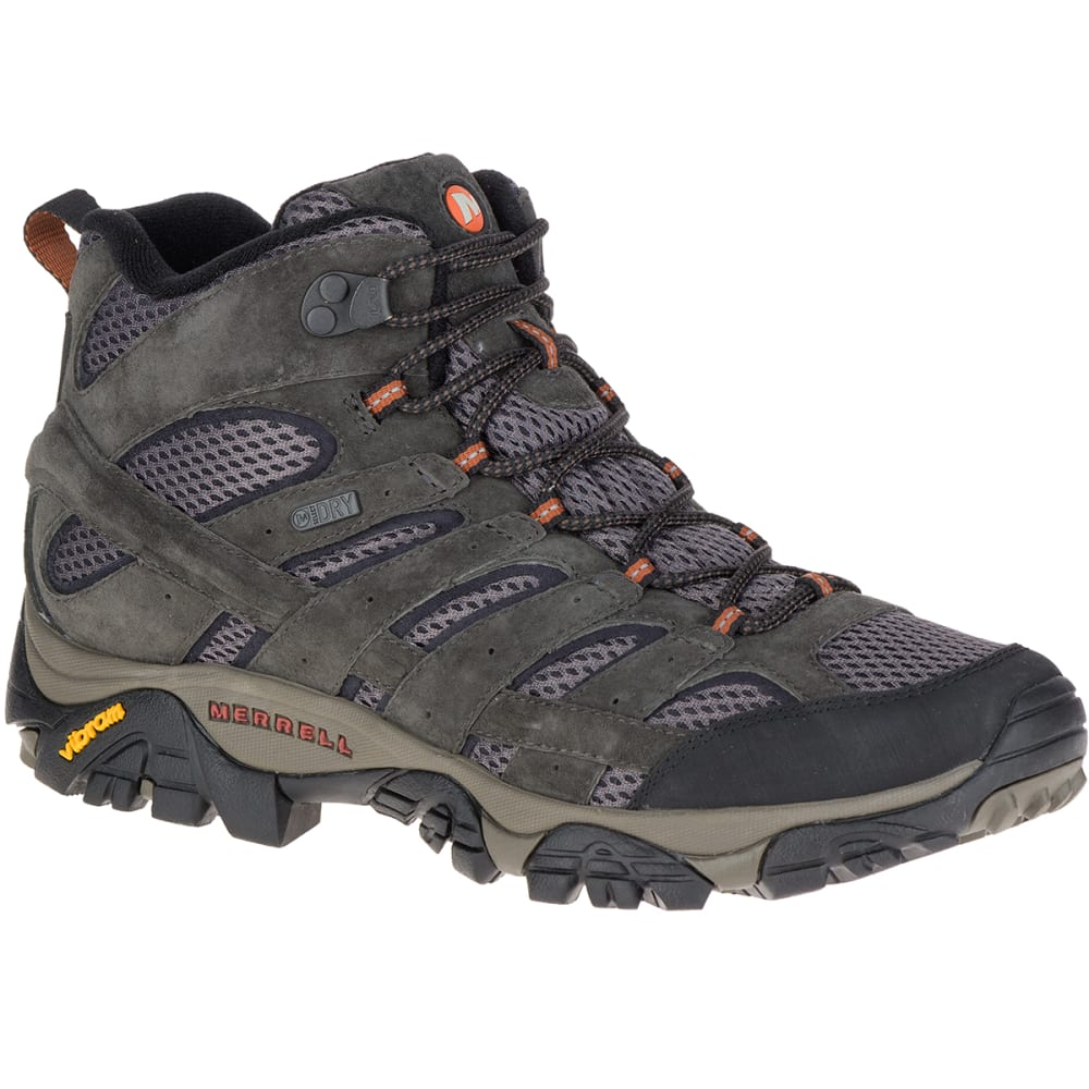 Merrell Men's Moab 2 Mid Waterproof Hiking Boots, Beluga - Black