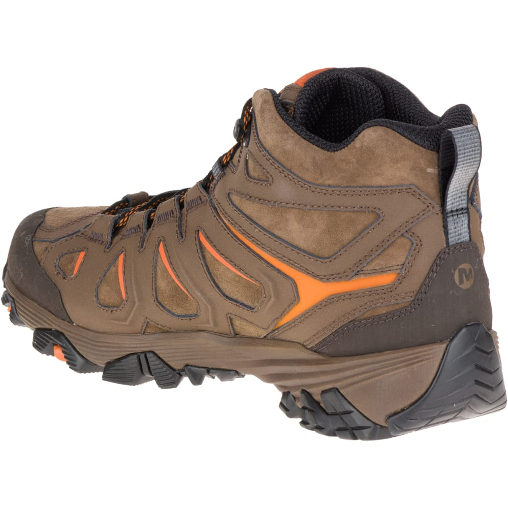 413deb372 MERRELL Men's Moab FST Leather Mid Hiking Boots, Waterproof, Dark Earth