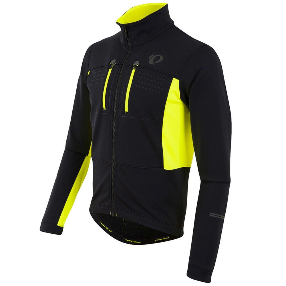 PEARL IZUMI Men's Elite Escape Soft Shell Jacket - BLACK/SCREAMING YLLW
