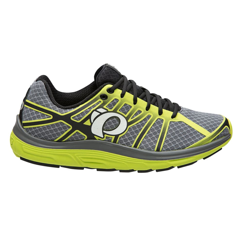 PEARL IZUMI Men's Road M3 v2 Running Shoe, Smoked Pearl/Lime Punch - SMOKED PEARL