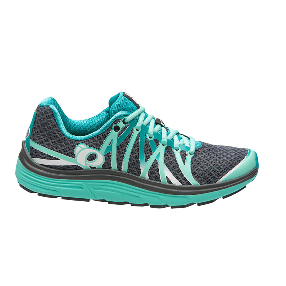 PEARL IZUMI Women's Road N3 Running Shoe, Smoke Greay/Aqua Mint - SHADOW GREY/AQUA MIN
