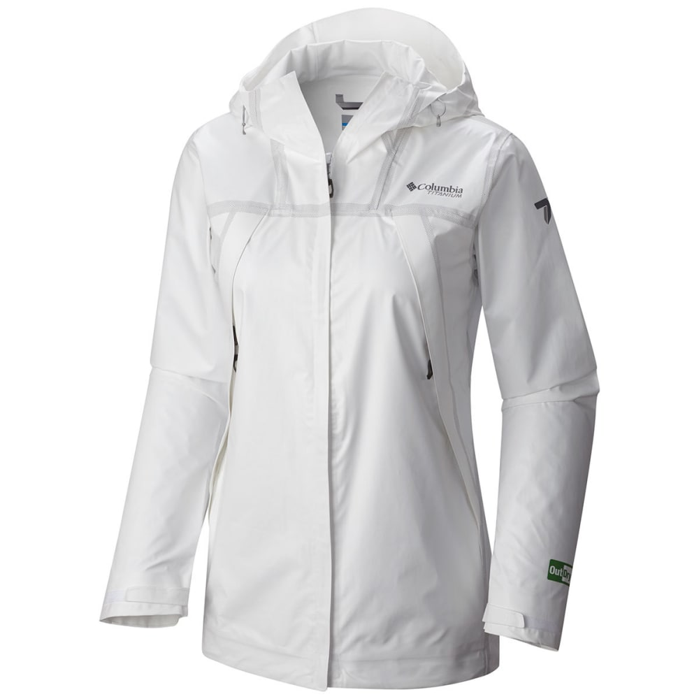 COLUMBIA Women's Outdry Ex Eco Shell Jacket - 100-WHITE UNDYED