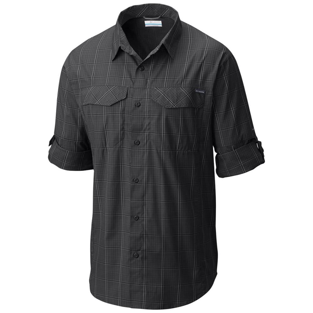 COLUMBIA Men's Silver Ridge Lite™ Plaid Long-Sleeve Shirt - 010-BLACK
