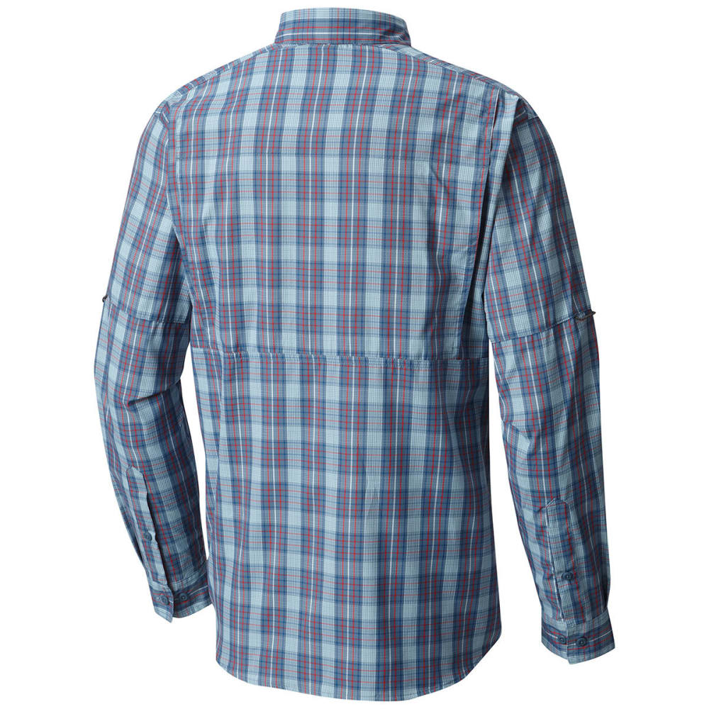 COLUMBIA Men's Silver Ridge Lite Plaid Long-Sleeve Shirt - 448-MARINE BLUE PLAI