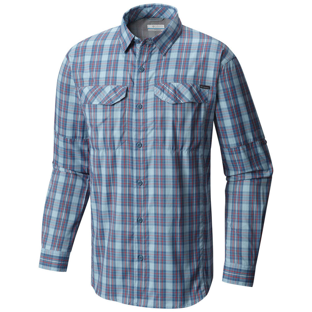 COLUMBIA Men's Silver Ridge Lite™ Plaid Long-Sleeve Shirt - 448-MARINE BLUE PLAI