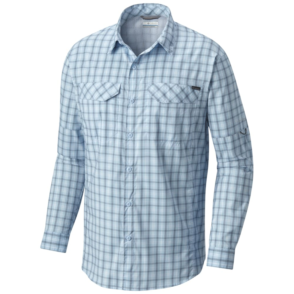 COLUMBIA Men's Silver Ridge Lite Plaid Long-Sleeve Shirt - 412-AIR PLAID
