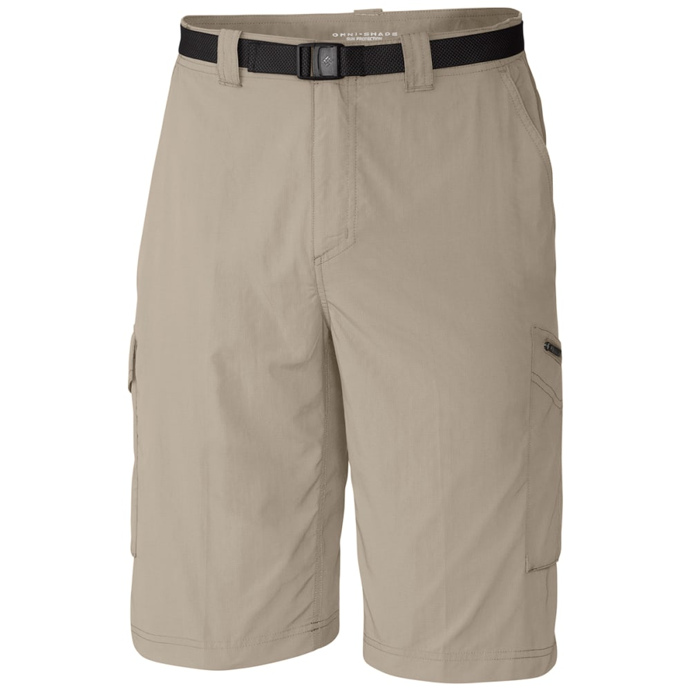 COLUMBIA Men's Silver Ridge Cargo Shorts, 10 in. - 160-FOSSIL