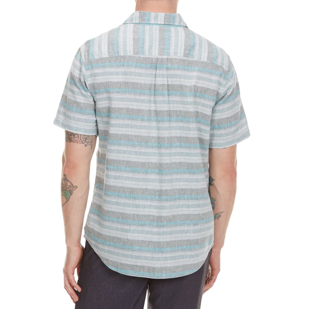 COLUMBIA Men's Southridge Yarn Dye Short-Sleeve  Shirt - 967-POND PLAID