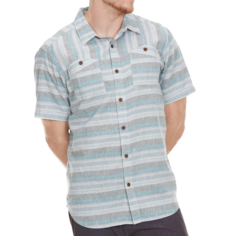 COLUMBIA Men's Southridge Yarn Dye Short-Sleeve  Shirt - 967-POND PLAID