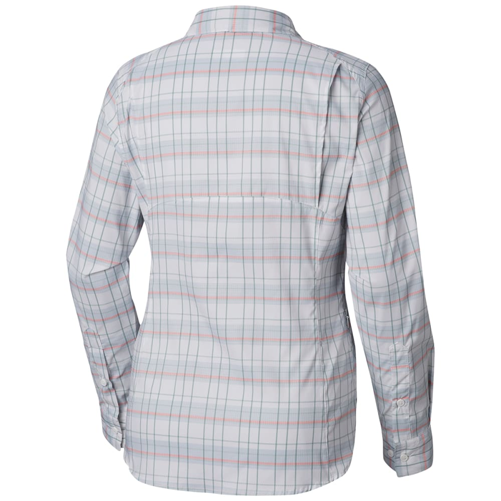 COLUMBIA Women's Silver Ridge Lite Plaid Long-Sleeve Shirt - 032-CITRUS GREY