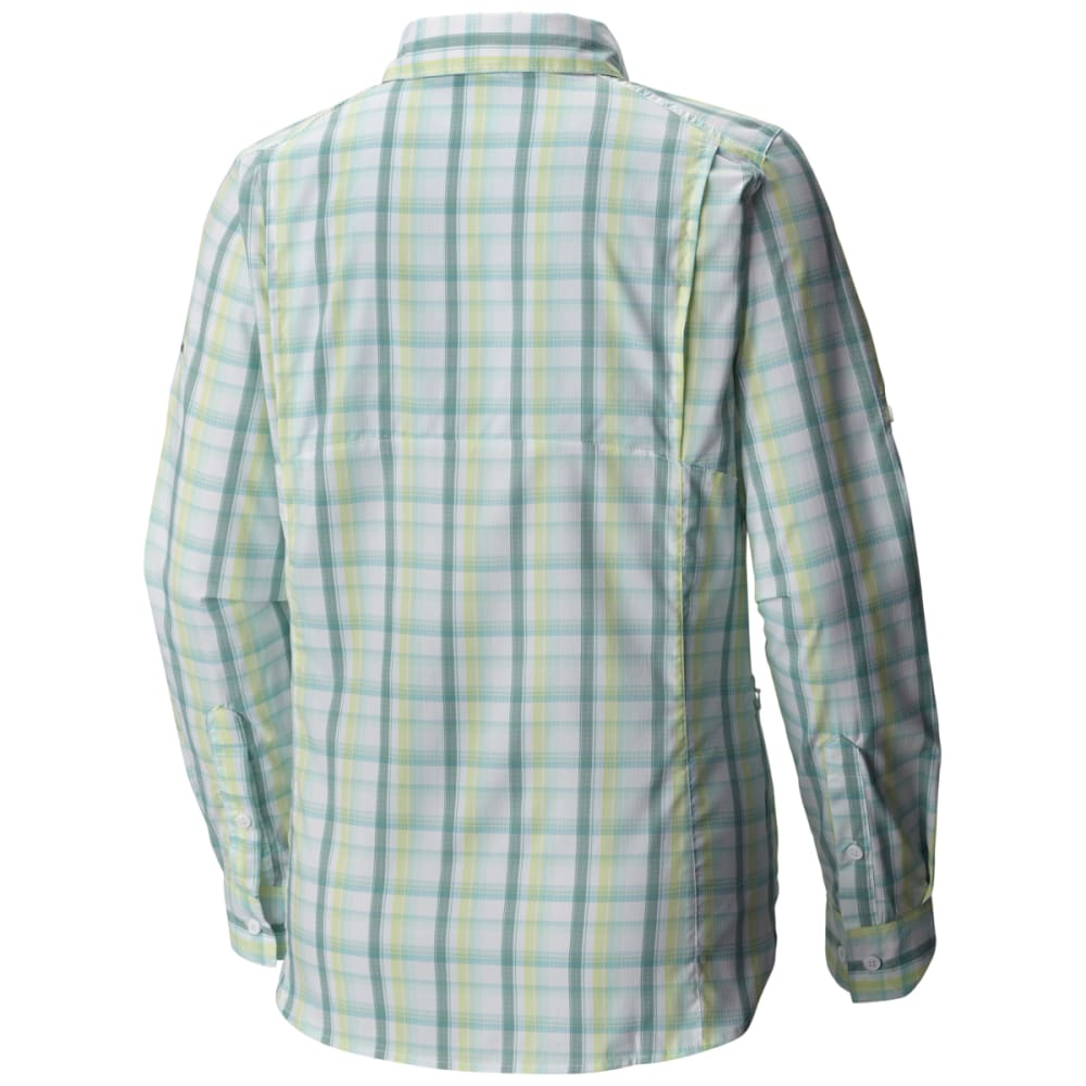 COLUMBIA Women's Silver Ridge Lite Plaid Long-Sleeve Shirt - 341-ICEBERG PLAID